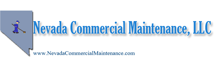 Main logo for Las Vegas Janitorial Services company.  Contains our name Nevada Commercial Maintance, llc in large font.